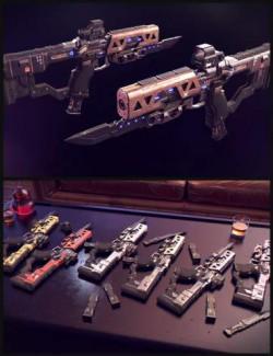 Cyberpunk Pistol SMG
