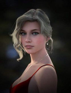 Nadae Bun Hair Set For Genesis 3 and 8 Females