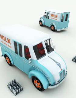 1950s DivCo Milk Truck for Poser