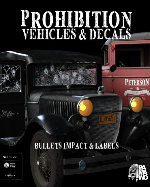 Prohibition Vehicles and Decals For DS