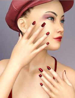 AB Single Nails for Genesis 8 Female