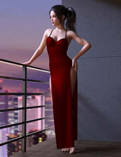 dForce Maxi Dress Outfit Set for Genesis 8 Females