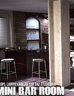 Mini Bar Room Daz Studio