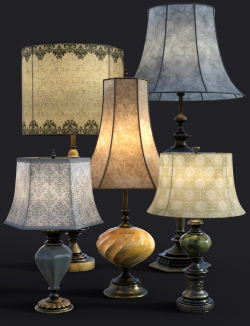B.E.T.T.Y. Vintage Decor 03 Table Lamps