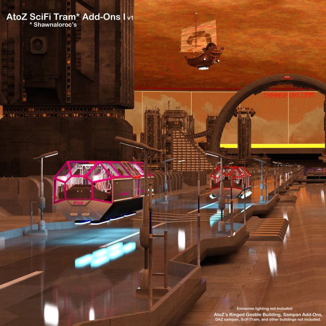 AtoZ SciFi Tram Add-Ons I v1