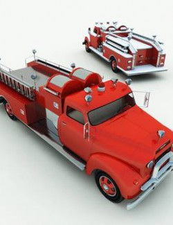 1950s Vintage Fire Truck for Poser