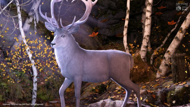 CWRW Silver Stag and Reindeer