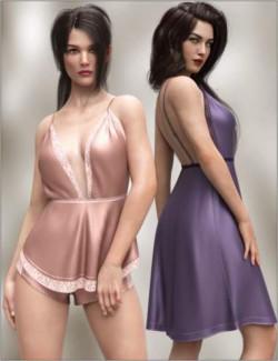 dForce Silky Nights 2 Outfit for Genesis 8 Females