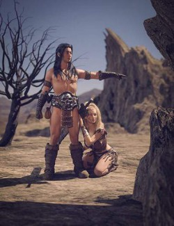 Warrior Couple And Landscape - Genesis 8