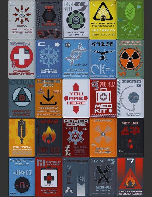 Sci-Fi Info Signs