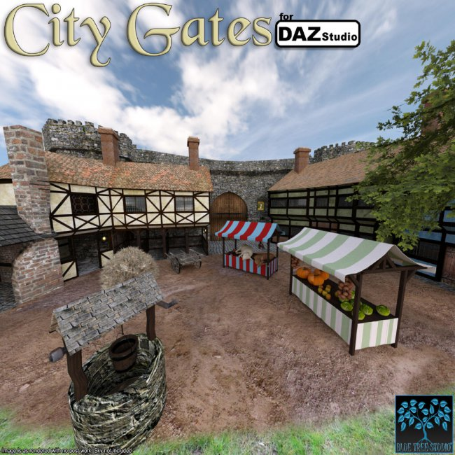 City Gates for Daz Studio