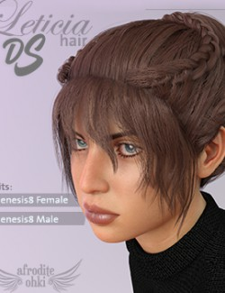 Leticia Hair DS for Genesis8
