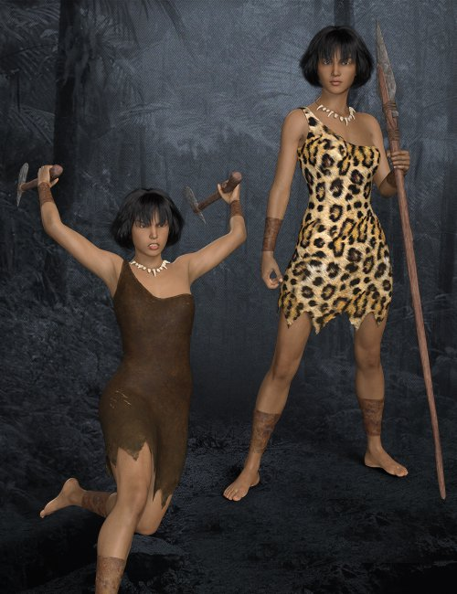 Stoneage Style Outfit Set for Genesis 8 Females