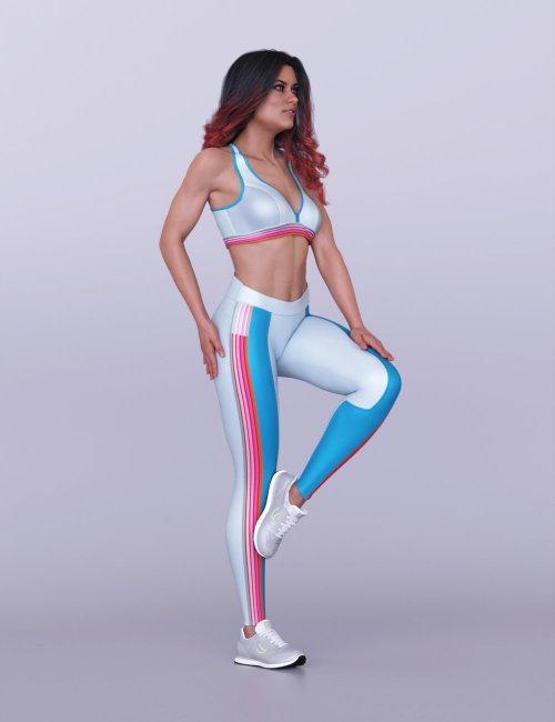 S3D Fitness Clothes for Genesis 8 Females