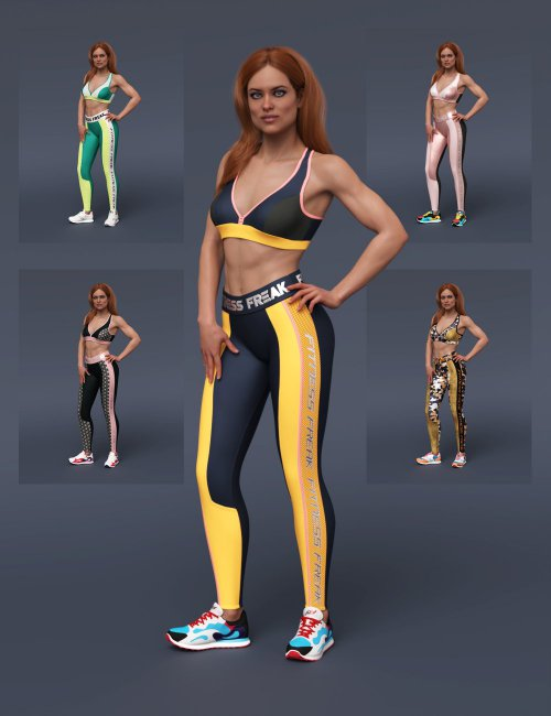 S3D Fitness Freak Textures for Fitness Clothes