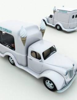 1950s Ice Cream Truck for Poser