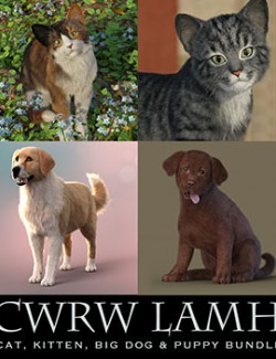 CWRW LAMH: Hive Wire Cat, Kitten, Big Dog & Puppy Bundle