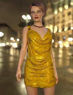 dForce Nicky Cowl Dress for Genesis 8 Females