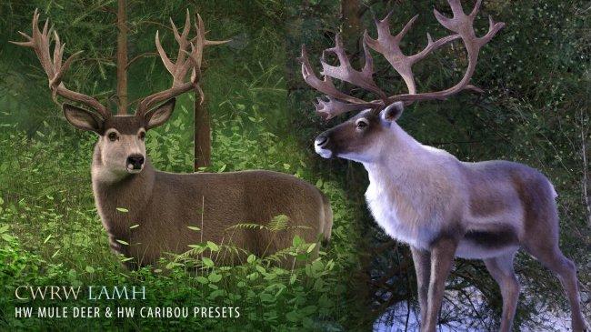CWRW LAMH: HW Mule Deer & HW Caribou Presets
