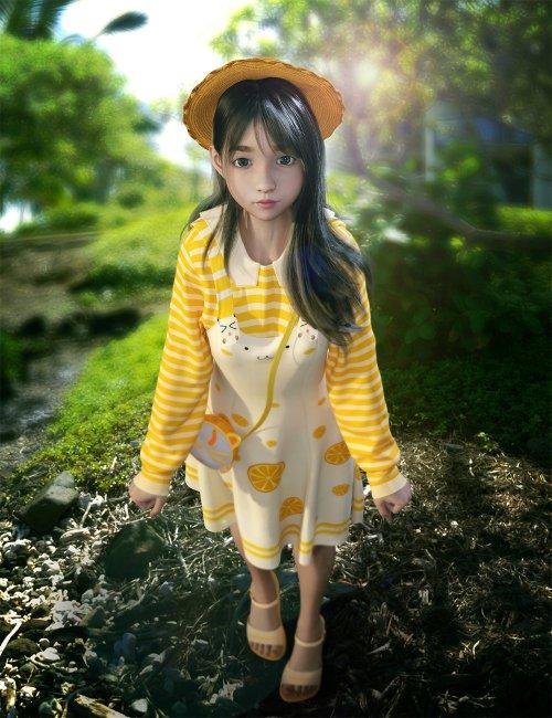 dForce SY Cute Suspender Skirt for Genesis 8 Females