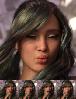 Emotional Response: Mix and Match Expressions for Genesis 8.1 Female