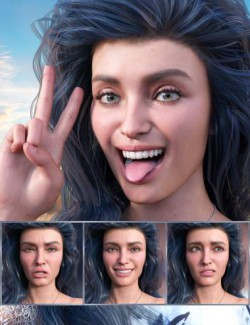 New Faces- Expressions for Genesis 8.1 Female and Victoria 8.1