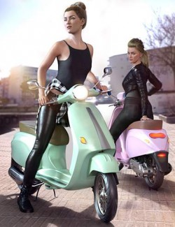 Z Belina Bike and Poses for Genesis 8.1 Female and Victoria 8.1