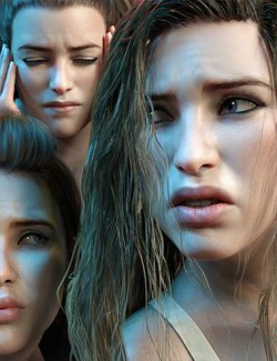 Z Pain and Hurt Mix and Match Expressions for Genesis 8.1 Female