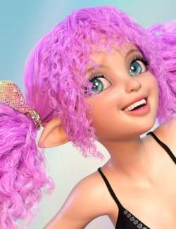 Rainboo Hair for Genesis 8 Females