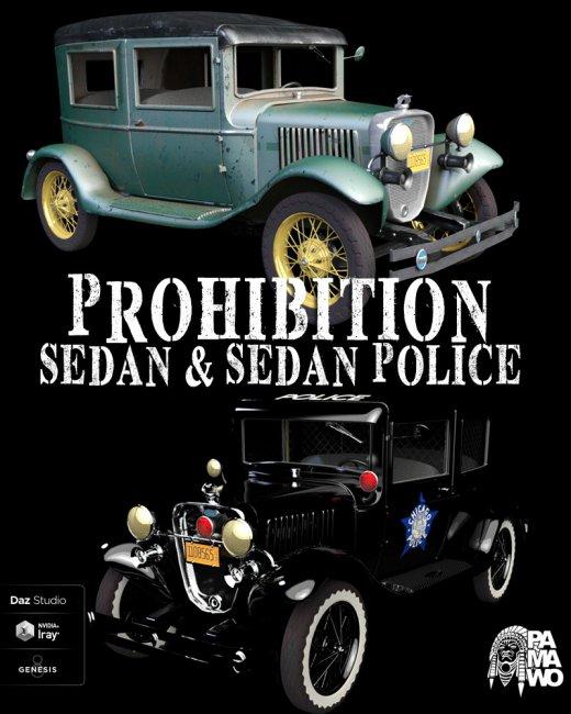 Prohibition Sedan for DAZ Studio