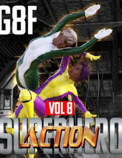 SuperHero Action for G8F Volume 8