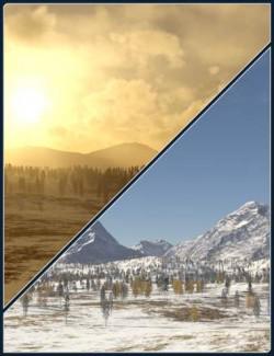 Winter Fields Skyspheres/HDRIs