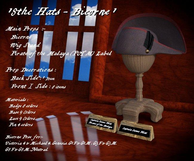18THC Hats - Bicorne1
