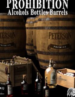 Prohibition Alcohols Bottles Barrels for DS