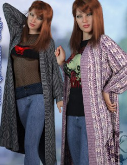 dforce- Long Cardigan- Genesis 8