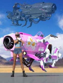 Sci-Fi Jumper Vehicle - Texture Pack