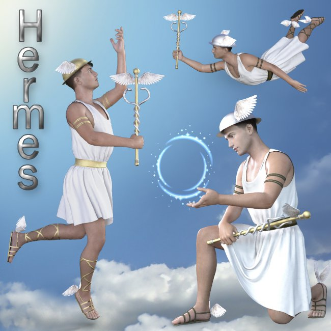 Costume of Hermes the Greek god of trade and fortune