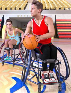 Z Sport Wheelchair and Poses for Genesis 8.1