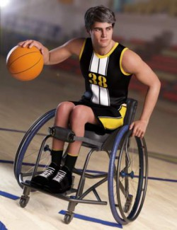 dForce Basketball Uniform Outfit for Genesis 8.1 Males