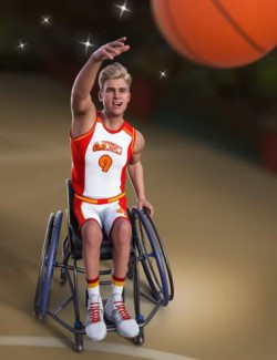 Basketball Wheelchair Animations for Genesis 8.1 Male and Michael 8.1