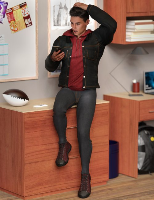 dForce Fall Vibes Outfit for Genesis 8 and 8.1 Males