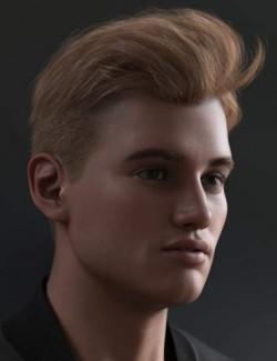 Tjark Short Hair for Genesis 8 and 8.1 Males