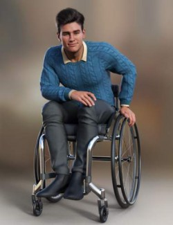 Everyday Wheelchair Animations for Genesis 8.1 Male and Michael 8.1