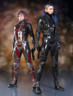 Sci-Fi Punk Outfit for Genesis 8 Females