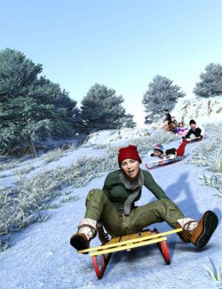 Now-Crowd Billboards- Sledding and Snowmen (Winter Fun Vol III)