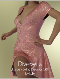 Diverse for dForce - Swing Dress for G8F