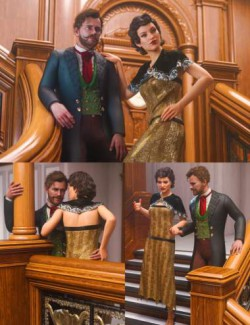 Grand Staircase Grandeur Poses for Genesis 8