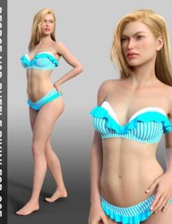 Dforce N3D Ruffle Bikini for G8F