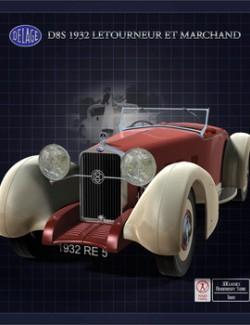 DELAGE D8S 1932 for POSER
