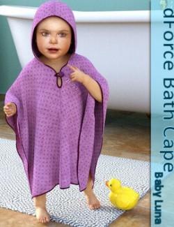 dForce Bath Cape for Baby Luna